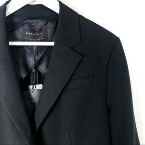 BCBGmaxazria High-low Tuxedo style blazer